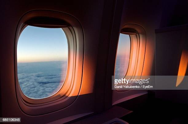 windows of airplane - window stock pictures, royalty-free photos & images