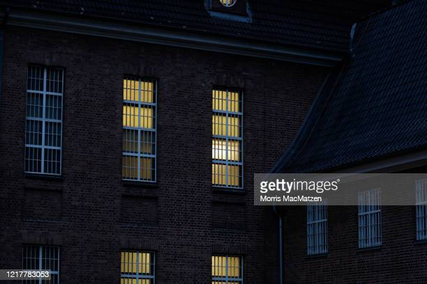 Windows of the JVA Kiel prison seen at twilight on June 5, 2020 in Kiel, Germany. German police have announced that Christian B., an inmate at the...