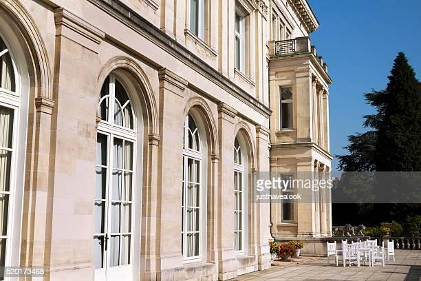 windows of villa hügel - essen germany stock pictures, royalty-free photos & images