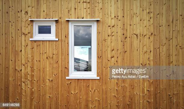 Windows On Wooden Wall