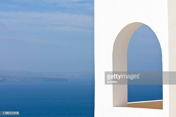 windows to the blue ocean - mediterranean sea stock pictures, royalty-free photos & images