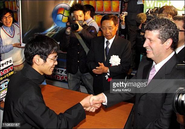 Windows 'Vista' Fans Queue For The Japanese Language Version In Akihabara, Japan On January 29, 2007 - Microsoft Japan's President Darren Huston.