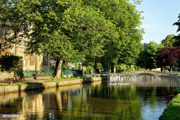 Windrush river in Bourton-on-the-Water in the Cotswolds