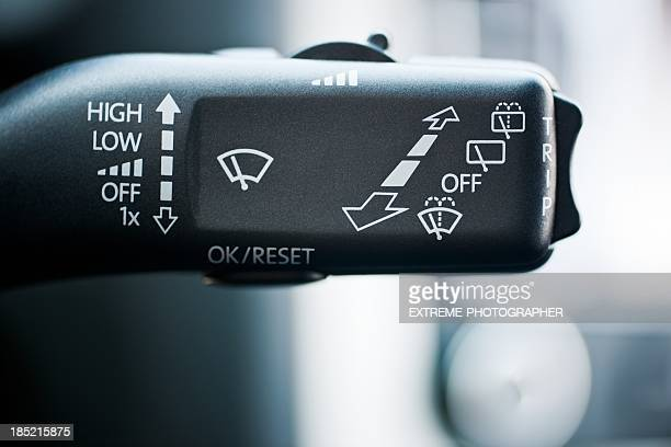 wind-screen wiper switch - windshield wiper stock photos and pictures