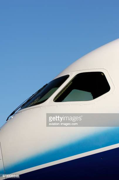 windshield of the first Boeing 787 Dreamliner at the rollout ceremony