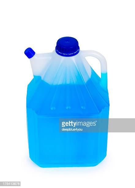 Windshield washer fluid canister isolated on white background