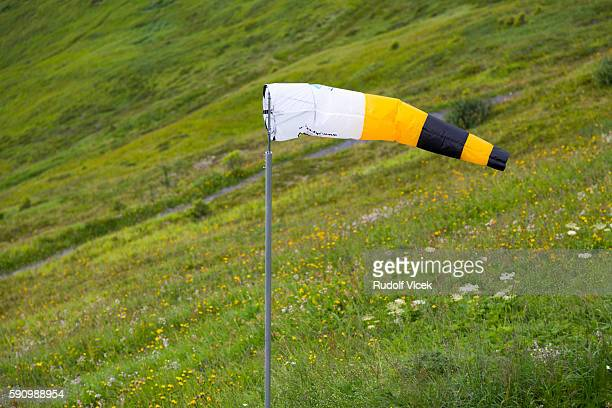 Windsock on a meadow