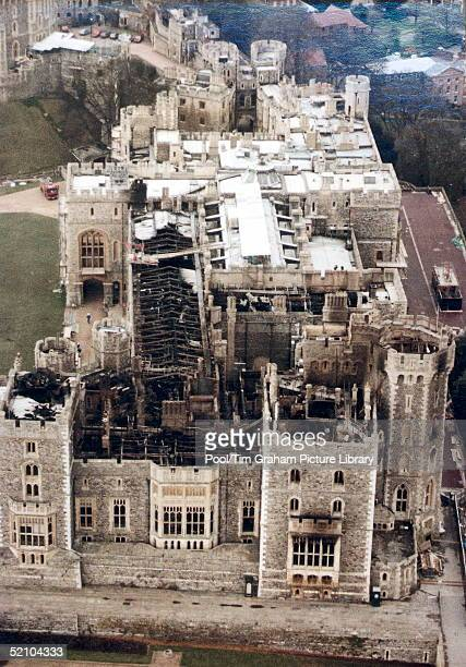 "Windsor Castle After The Fire Of November 1992 During The ""annus Horribilis""."