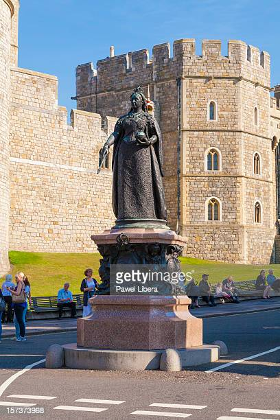 windsor castle and victoria memorial - windsor england stock pictures, royalty-free photos & images