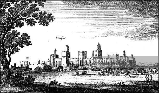 Windsor Castle, ca 1700, England / Windsor Castle, ca 1700, England, Historisch, historical, digital improved reproduction of an original from the...