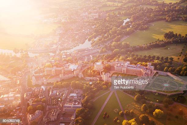 Windsor Castle from above.