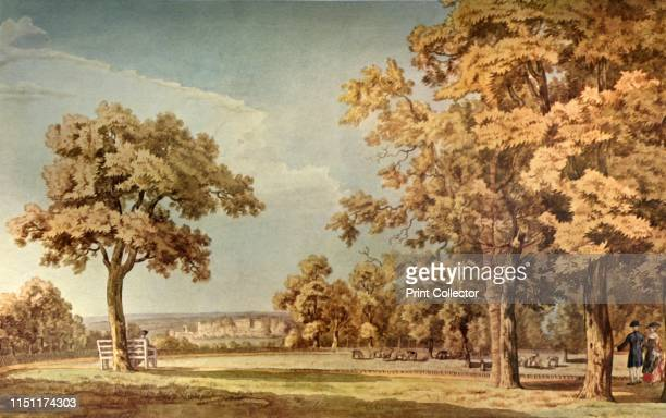 Windsor Castle from the Great Park Near the End of the Long Walk', 1740-1798, . The deer park at Windsor in Berkshire, with the Castle in the...