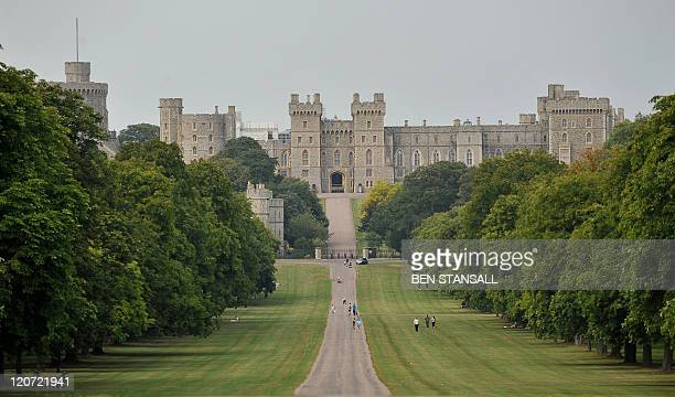 Windsor Castle is pictured from the Long Mile in Windsor west of London on August 3 2011 AFP PHOTO / BEN STANSALL