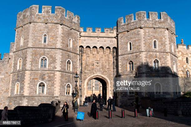 Windsor Castle is pictured in the afternoon sunshine in Windsor west of London on December 8 2017 Britain's Prince Harry will marry his US actress...