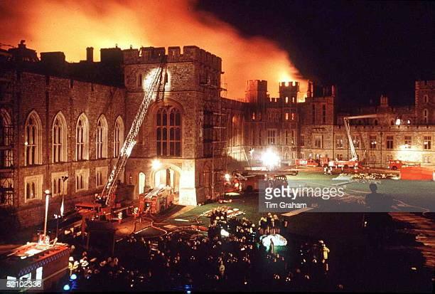 Windsor Castle On Fire.