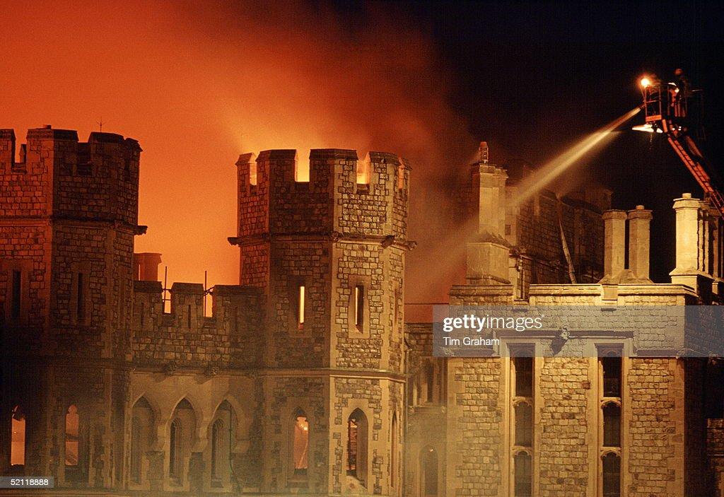 Windsor Castle On Fire : News Photo