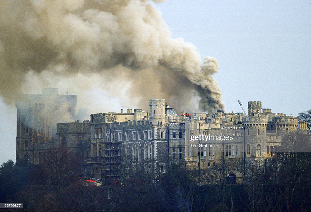 Fire At Windsor Castle : News Photo
