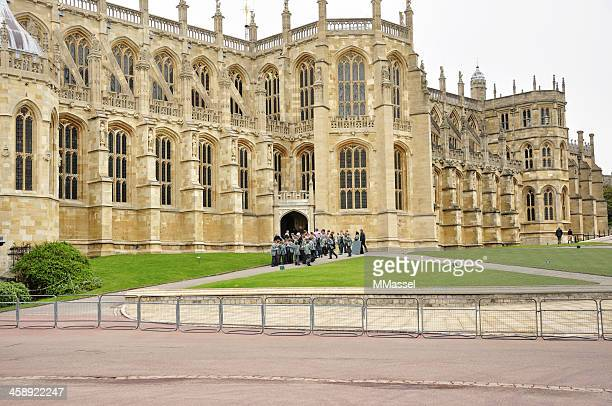 windsor castle st. george's chapel - st. george's chapel stock photos and pictures