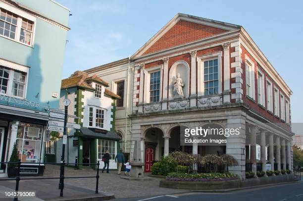 Windsor Guild Hall and the Crooked House Windsor Berkshire England UK