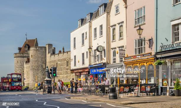 windsor high street - windsor england stock pictures, royalty-free photos & images