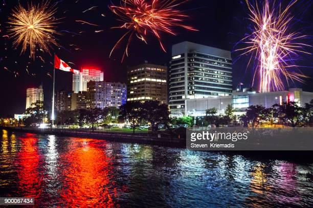 Windsor, Ontario - Night Time Fireworks