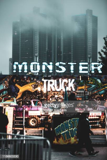 windsor, ontario - summerfest - monster truck stock pictures, royalty-free photos & images