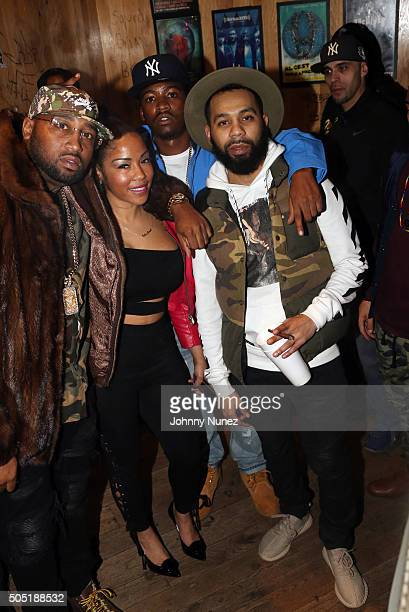 Windsor Slow Lubin Elba Everlasting and Rodney Bucks Charlemagne attend Webster Hall on January 12 in New York City