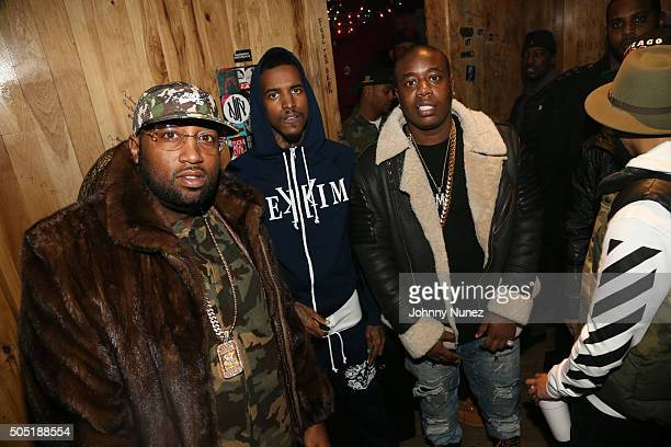 Windsor Slow Lubin Lil Reese and Trav attend Webster Hall on January 12 in New York City