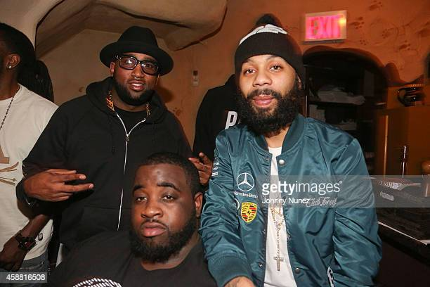 Windsor 'Slow' Lubin Sid Bounce and Rodney 'Bucks' Charlemagne attend SBOE Private Dinner at Fino Ristorante Italiano on November 10 2014 in New York...