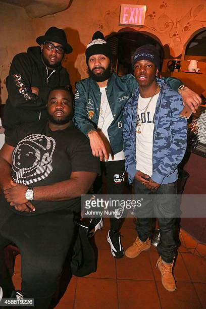 Windsor 'Slow' Lubin Sid Bounce Rodney 'Bucks' Charlemagne and Von attend SBOE Private Dinner at Fino Ristorante Italiano on November 10 2014 in New...