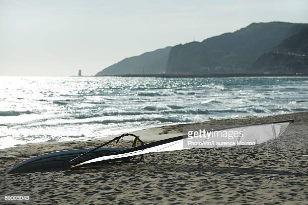 Windsurf board on beach