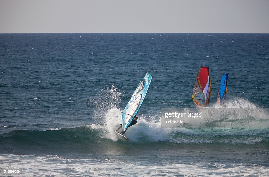 Windsurfer At Hookipa Beach Maui Hawaii Usa