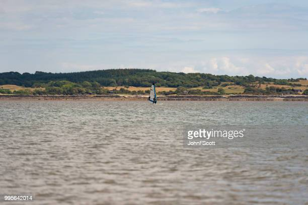 Windsurfer on the Solway Firth south west Scotland