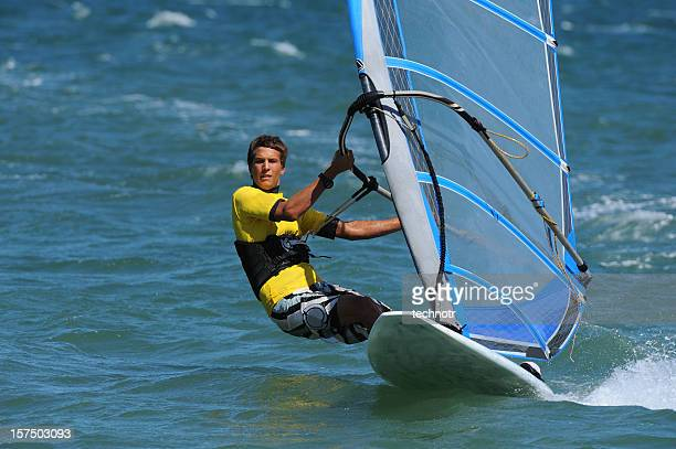 windsurfer - windsurfing stock pictures, royalty-free photos & images