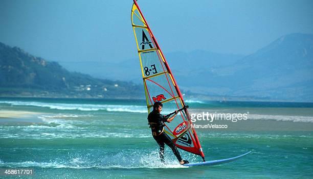 windsurfer - tarifa stock photos and pictures