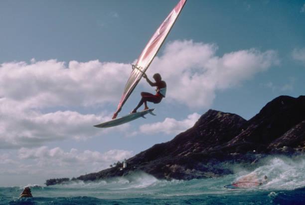 Windsurfer Robby Naish Catching Air off Diamond Head