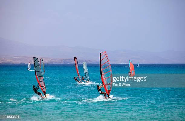 Windsurfing, Fuerteventura, Canary Islands, Spain