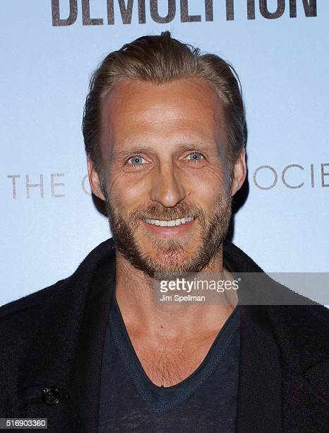US windsurfing Jesper Vesterstrm attends the Fox Searchlight Pictures with The Cinema Society host a screening of Demolition at the SVA Theater on...
