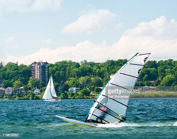 windsurfing - ontario canada stock pictures, royalty-free photos & images