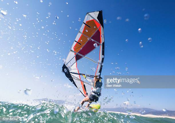 windsurfing - tarifa stock photos and pictures