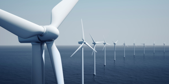 Windturbines on the ocean 93462543
