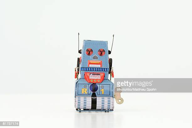 wind-up robot toy - wind up toy stock photos and pictures