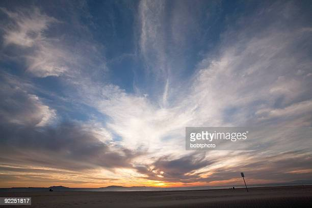 Windy Beach Sunset