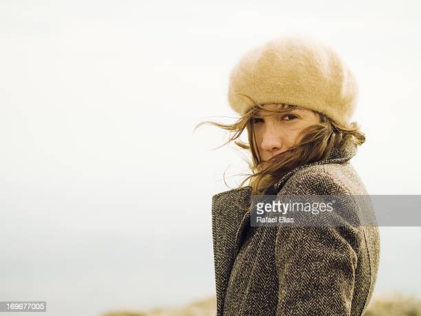 Windy day girl