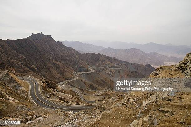 Windy Road in Asir Mountains