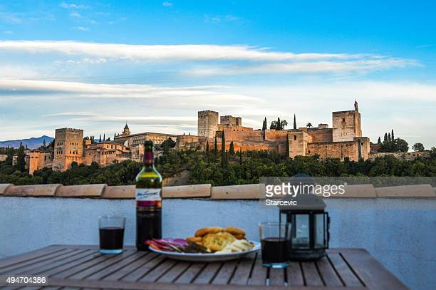 Wine and cheese party in Granada, Spain