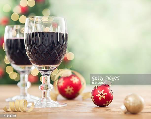 Vino e Natale decorazioni