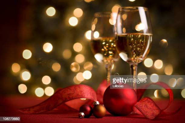 WIne and Christmas Lights
