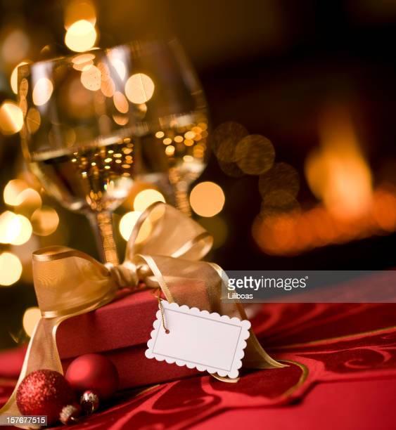ワインとクリスマスの夜景