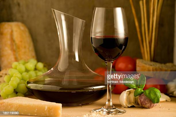 wine and food - chianti region stock photos and pictures